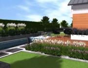 Projekt ogrodu przy bliźniaku w Bodzanowie II