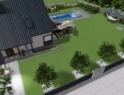 Projekt ogrodu z basenem w Kryspinowie